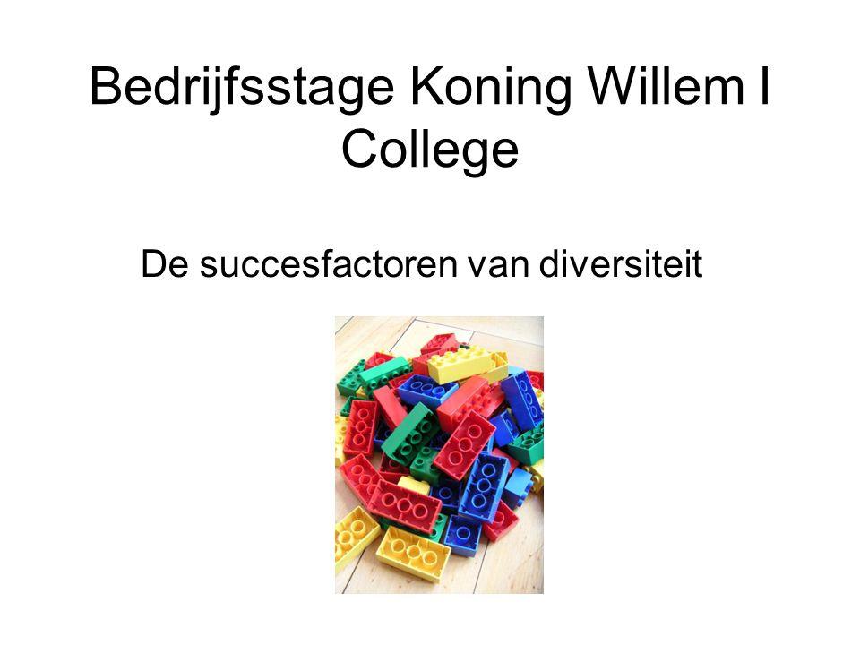 Bedrijfsstage Koning Willem I College De succesfactoren van diversiteit
