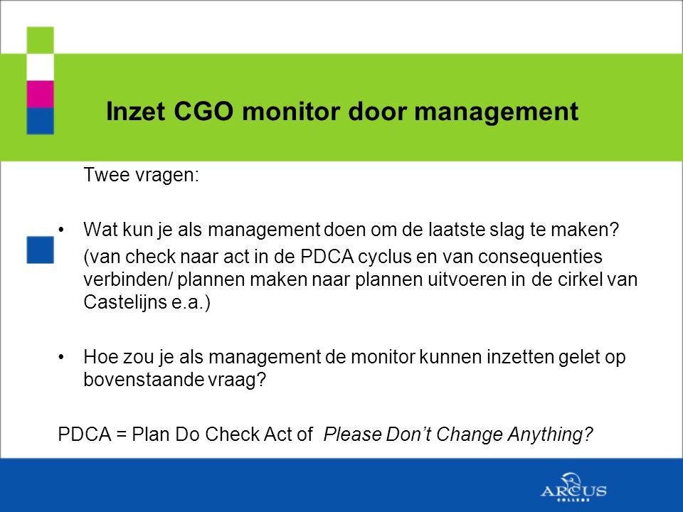 Twee vragen: Wat kun je als management doen om de laatste slag te maken.
