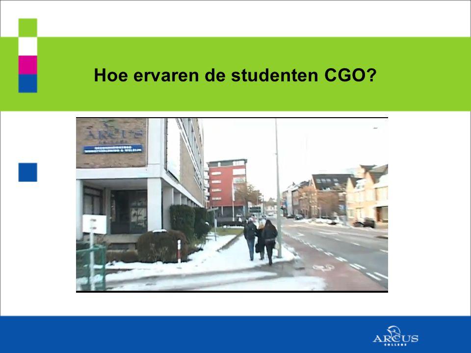 Hoe ervaren de studenten CGO