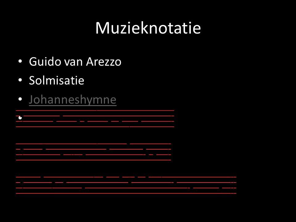 Muzieknotatie Guido van Arezzo Solmisatie Johanneshymne