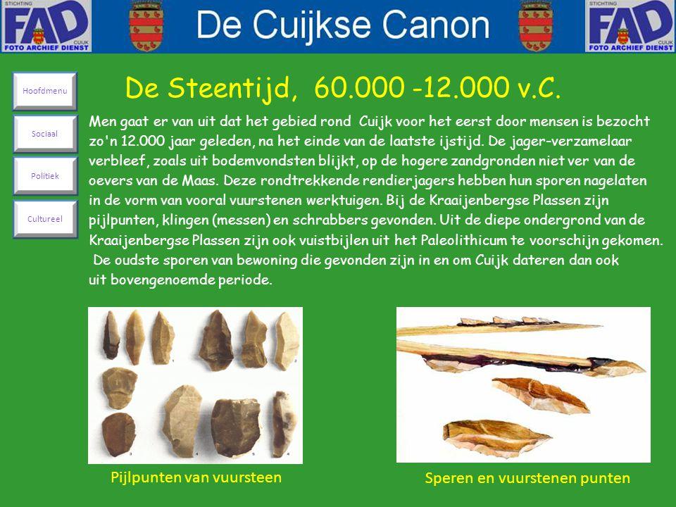 Men gaat er van uit dat het gebied rond Cuijk voor het eerst door mensen is bezocht zo n 12.000 jaar geleden, na het einde van de laatste ijstijd.