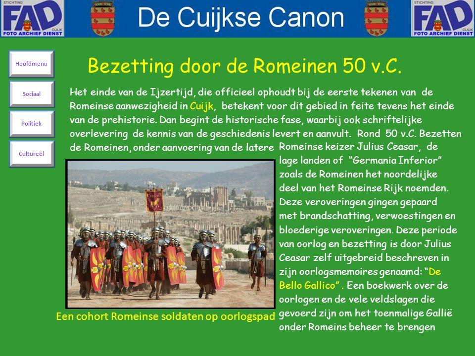 Het einde van de Ijzertijd, die officieel ophoudt bij de eerste tekenen van de Romeinse aanwezigheid in Cuijk, betekent voor dit gebied in feite teven