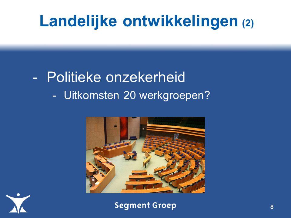 8 -Politieke onzekerheid -Uitkomsten 20 werkgroepen? Landelijke ontwikkelingen (2)