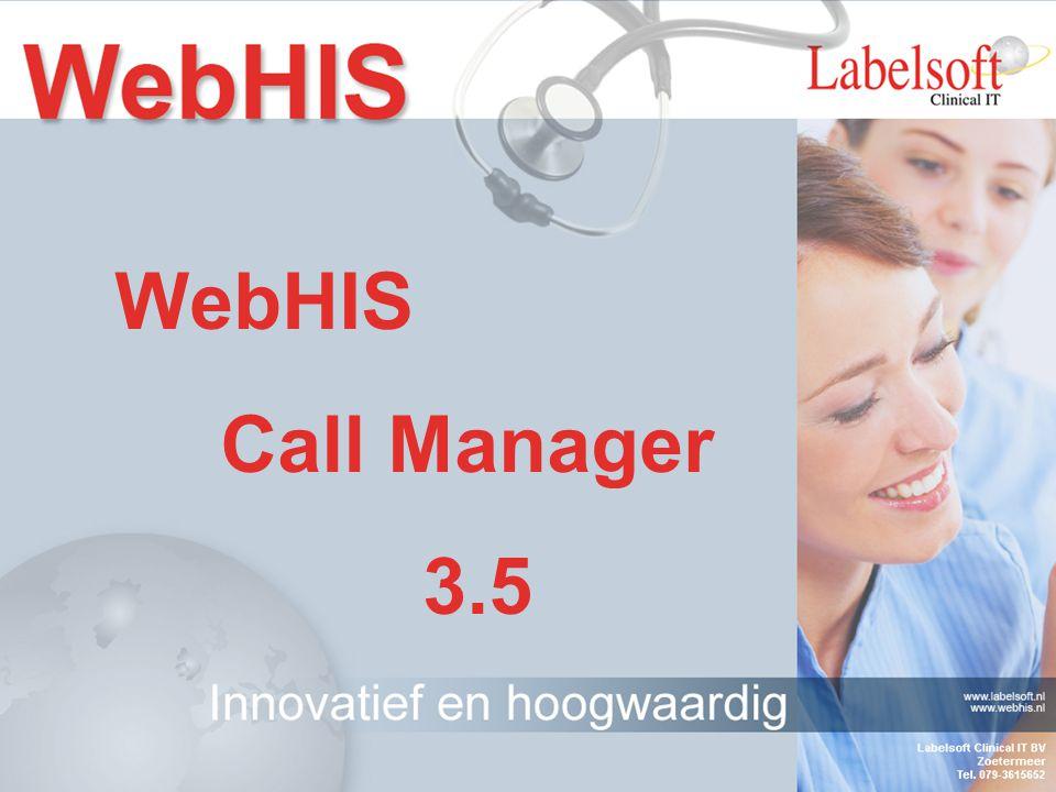 WebHIS Callmanager WebHIS Waarneming WebHIS Zorgdossier mailServerRSP/LDAPServer WebHIS Ketendossier