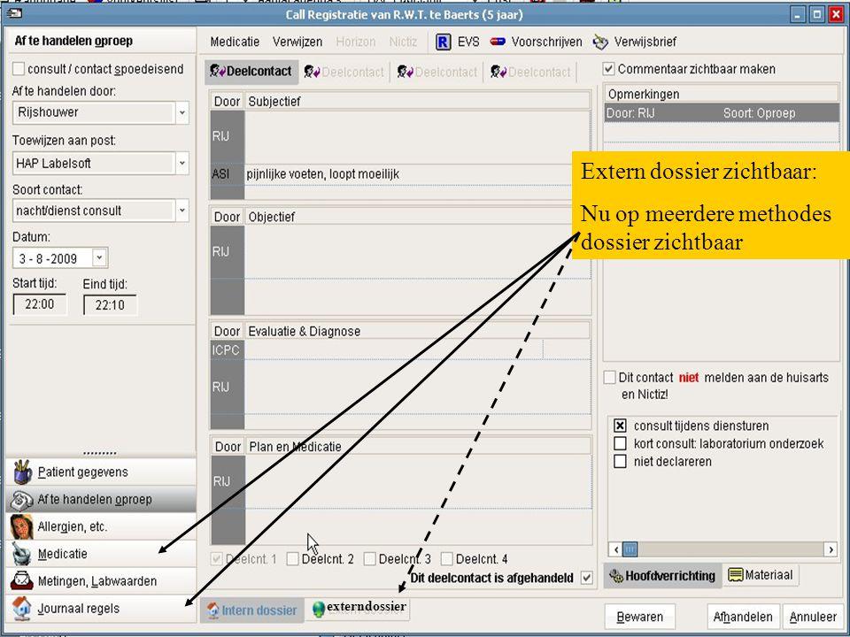 externdossier Extern dossier zichtbaar: Nu op meerdere methodes dossier zichtbaar