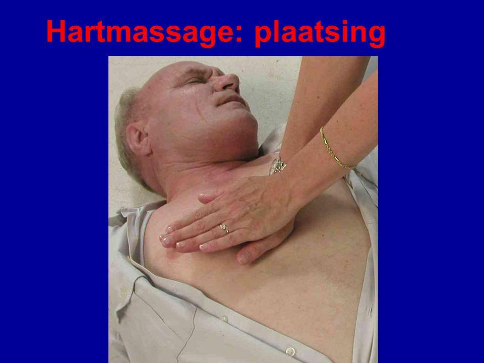 Hartmassage: plaatsing handen