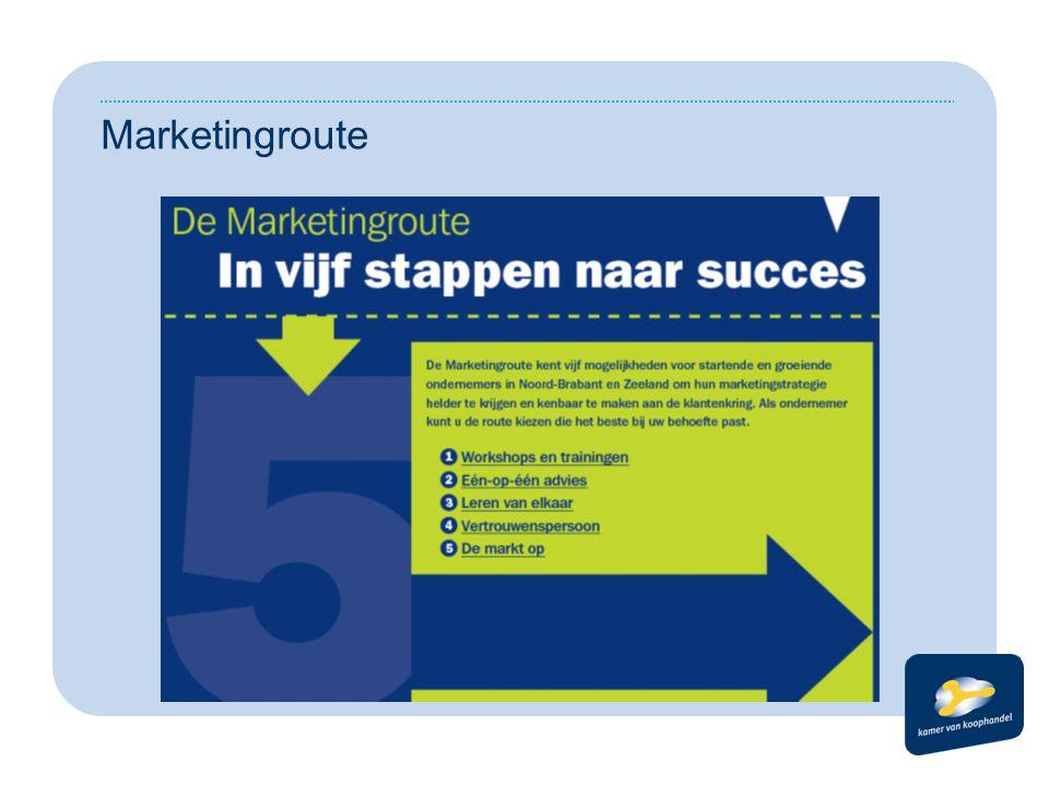 Logische stappen op maat 1) Seminars & trainingen 2) Één op Één advies 3) Leren van elkaar 4) Coaching 5) De markt op Instappen naar behoefte ondernemer