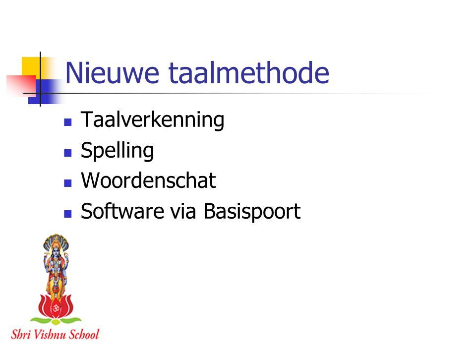 Nieuwe taalmethode Taalverkenning Spelling Woordenschat Software via Basispoort
