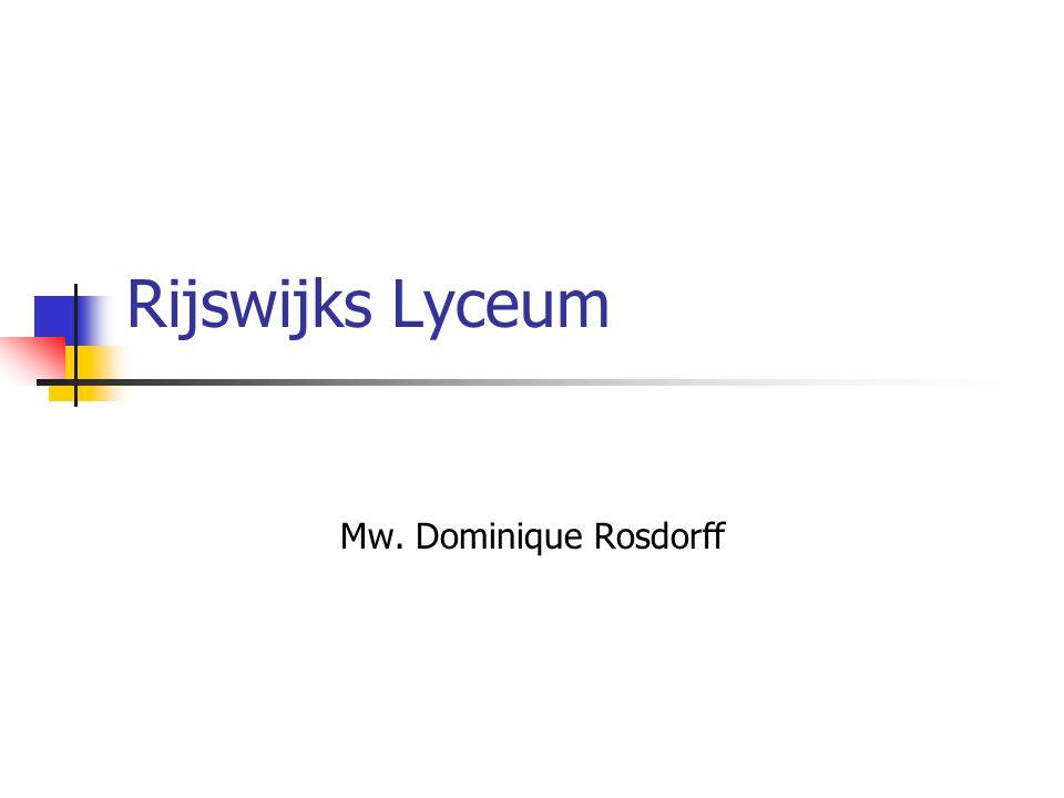 Mw. Dominique Rosdorff Rijswijks Lyceum