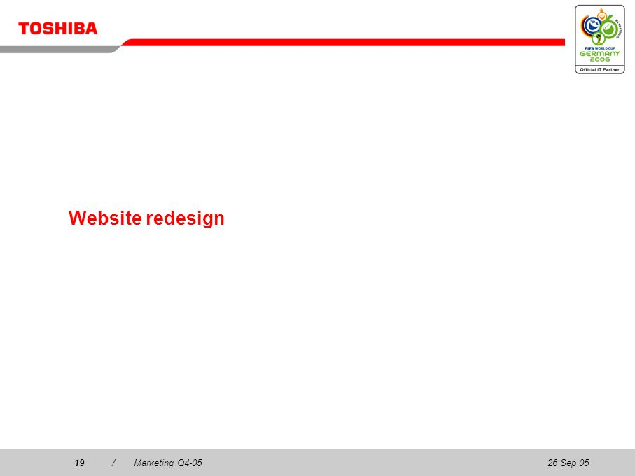 26 Sep 0519/Marketing Q4-0519 Website redesign