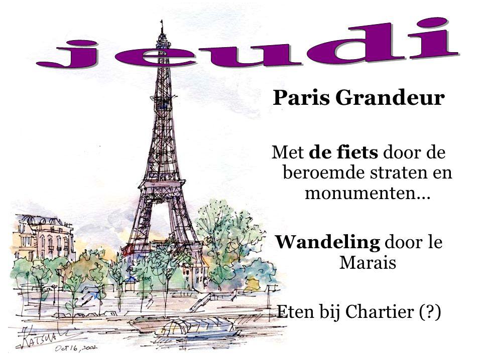 Paris Grandeur Met de fiets door de beroemde straten en monumenten... Wandeling door le Marais Eten bij Chartier (?)
