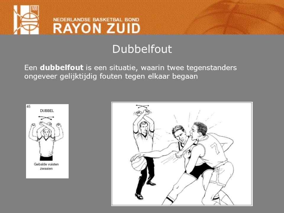 Dubbelfout Een dubbelfout is een situatie, waarin twee tegenstanders ongeveer gelijktijdig fouten tegen elkaar begaan