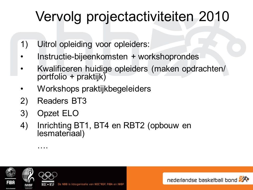 1)Uitrol opleiding voor opleiders: Instructie-bijeenkomsten + workshoprondes Kwalificeren huidige opleiders (maken opdrachten/ portfolio + praktijk) W