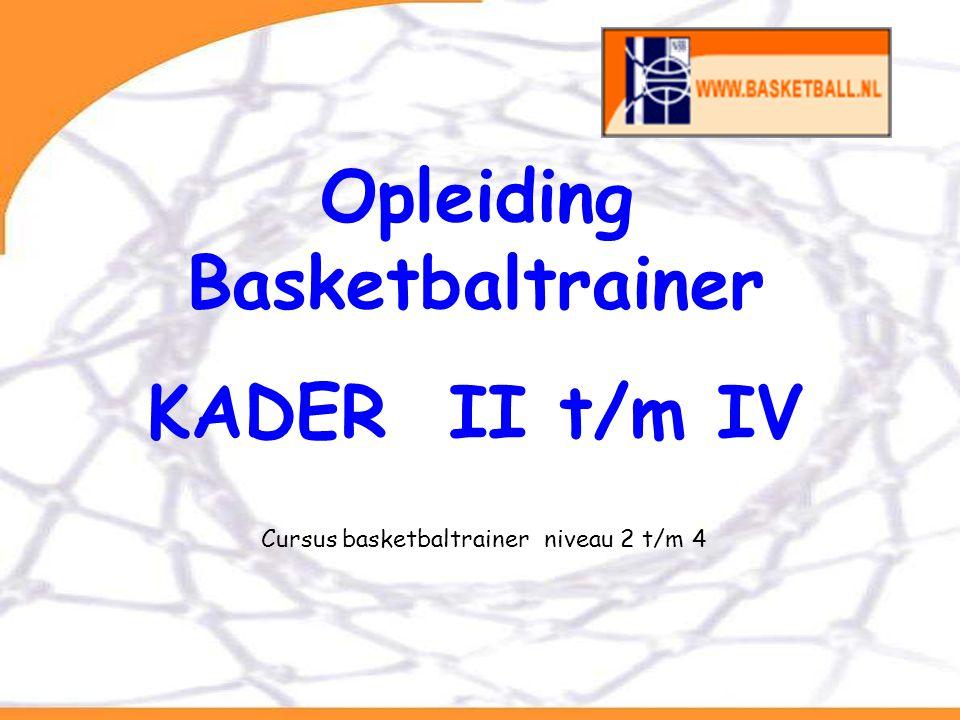 Van BCP naar opleidingsontwerp Opleiding Basketbaltrainer KADER II t/m IV Cursus basketbaltrainer niveau 2 t/m 4