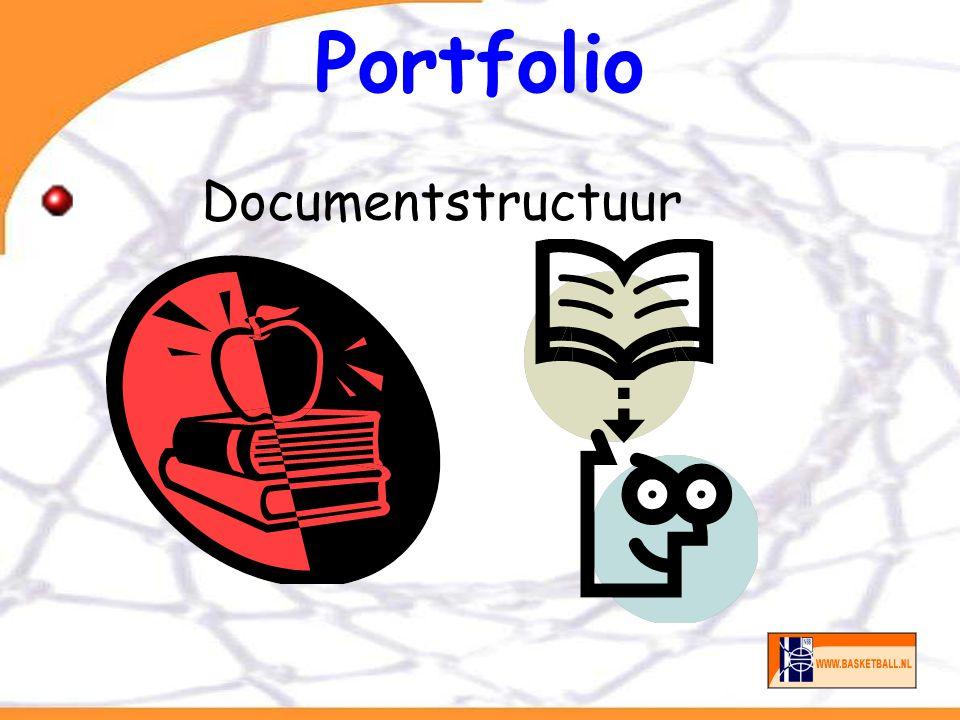 Portfolio Hoofdstukken Inhoudsopgave CV Cursusprogramma Trainingen Wedstrijden Opdrachten Resultaten