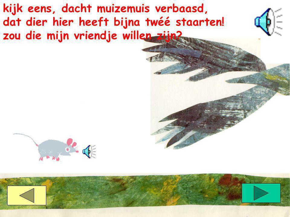 maar nee bromde het nijlpaard en zwaaide zijn staart