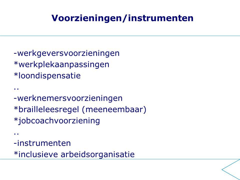 UWV Ondersteuning Wajong (werkregeling) Arbeidsdeskundige (samen op weg naar werk) Re-integratiebedrijf op basis van expertise (maatwerk) Doelgroepen (auditief beperkten en blinden/slechtzienden) - Werkpad B.V.