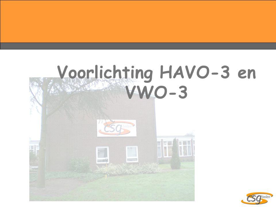 Voorlichting HAVO-3 en VWO-3