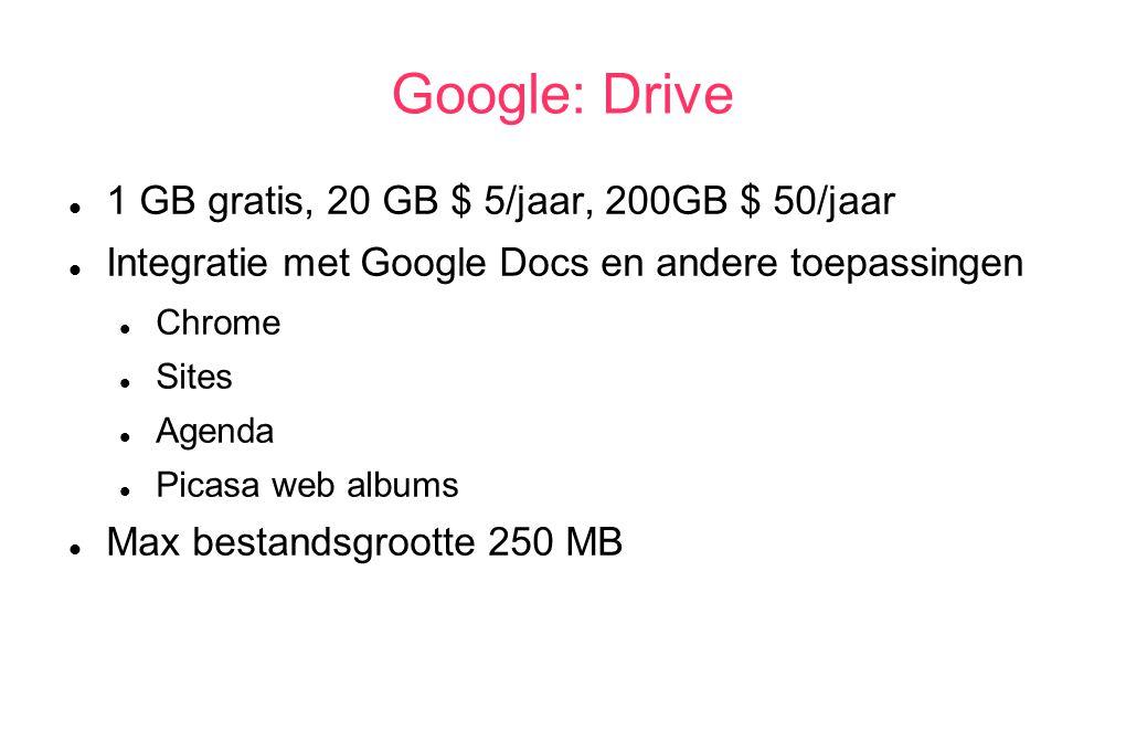 Apple: MobileMe 5 GB gratis, $ 20/jaar per 10 GB meer Alleen op Apple systemen incl.
