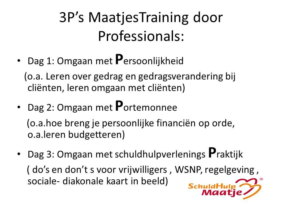 3P's MaatjesTraining door Professionals: Dag 1: Omgaan met P ersoonlijkheid (o.a.