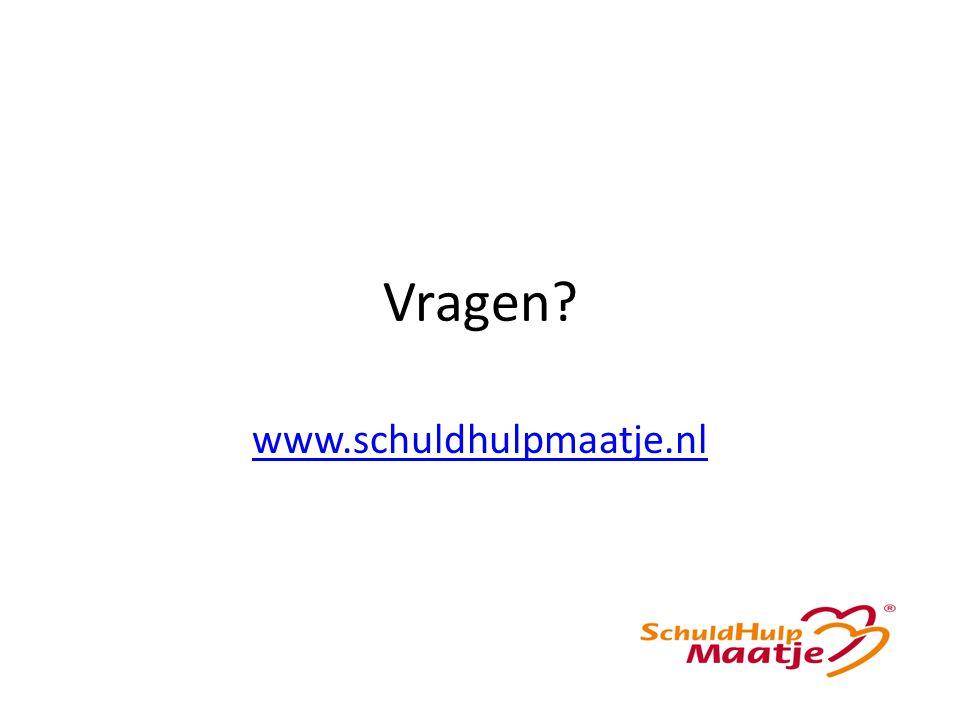 Vragen? www.schuldhulpmaatje.nl
