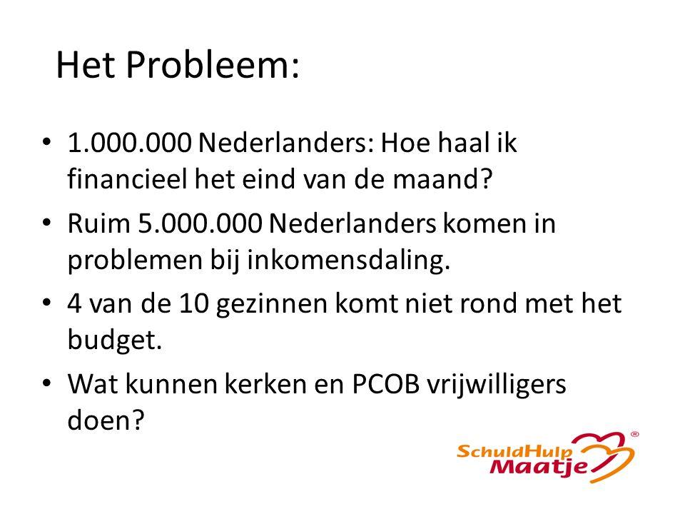 Het Probleem: 1.000.000 Nederlanders: Hoe haal ik financieel het eind van de maand.