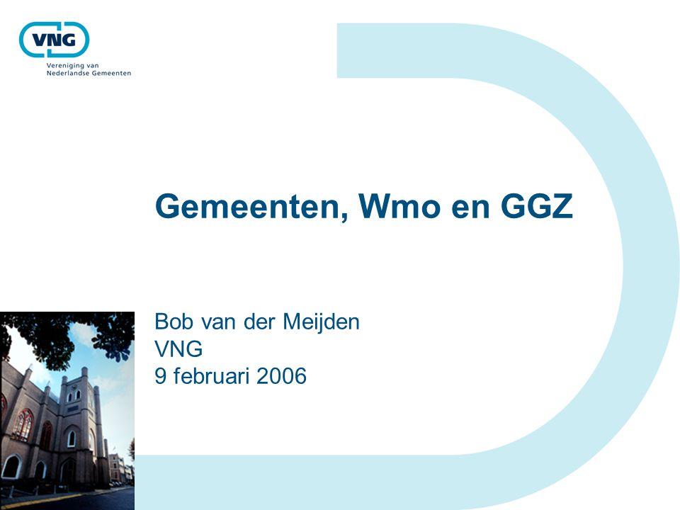 Gemeenten, Wmo en GGZ Bob van der Meijden VNG 9 februari 2006