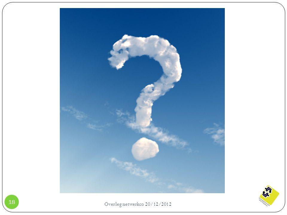 Overleg netwerkco 20/12/2012 18