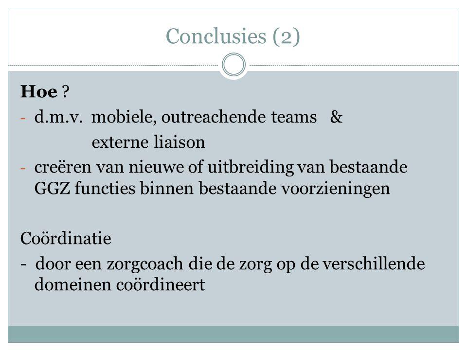 Conclusies (2) Hoe .- d.m.v.