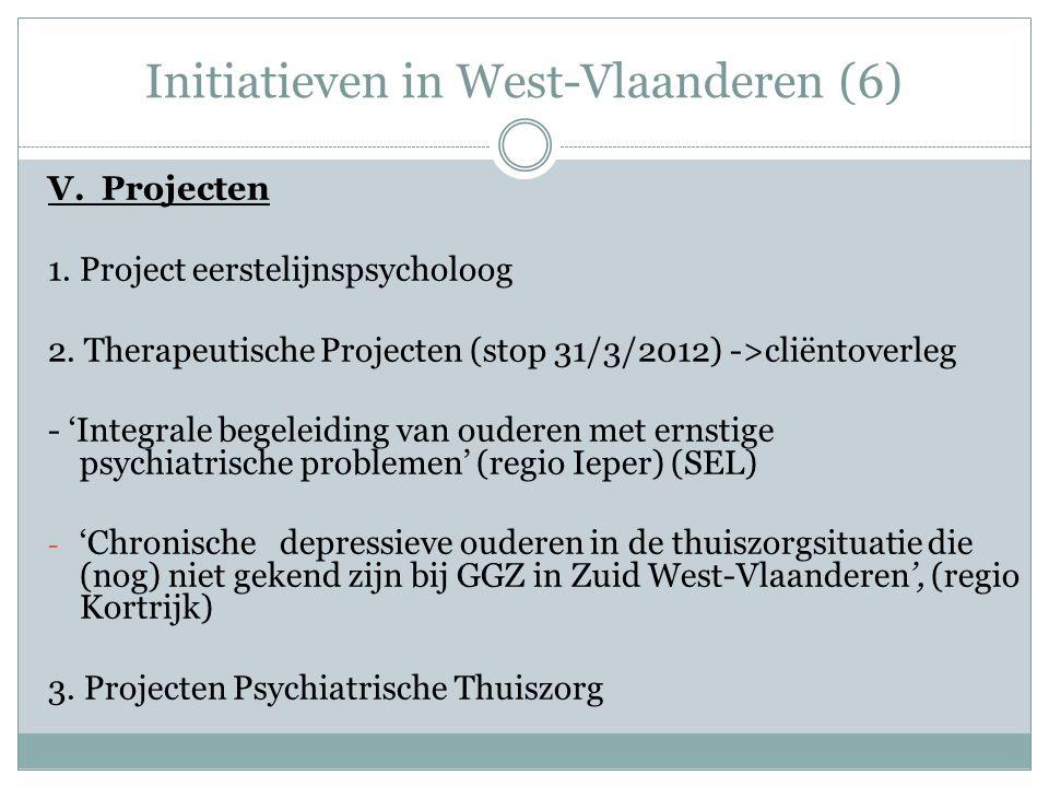 Initiatieven in West-Vlaanderen (6) V.Projecten 1.
