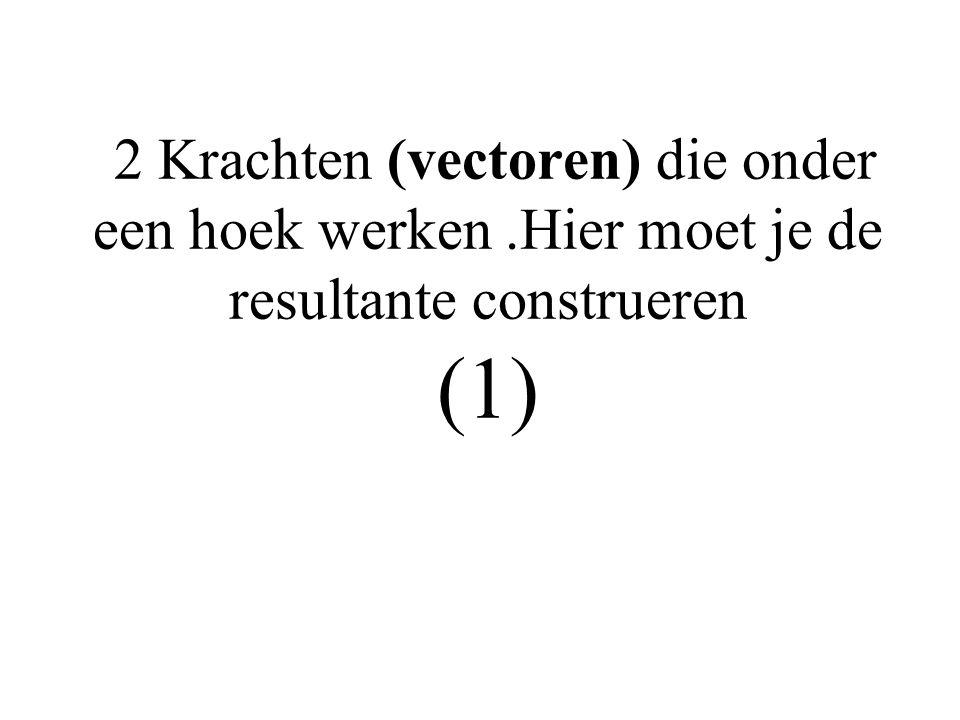 2 Krachten (vectoren) die onder een hoek werken.Hier moet je de resultante construeren (1)