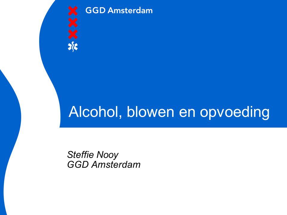Alcohol, blowen en opvoeding Steffie Nooy GGD Amsterdam