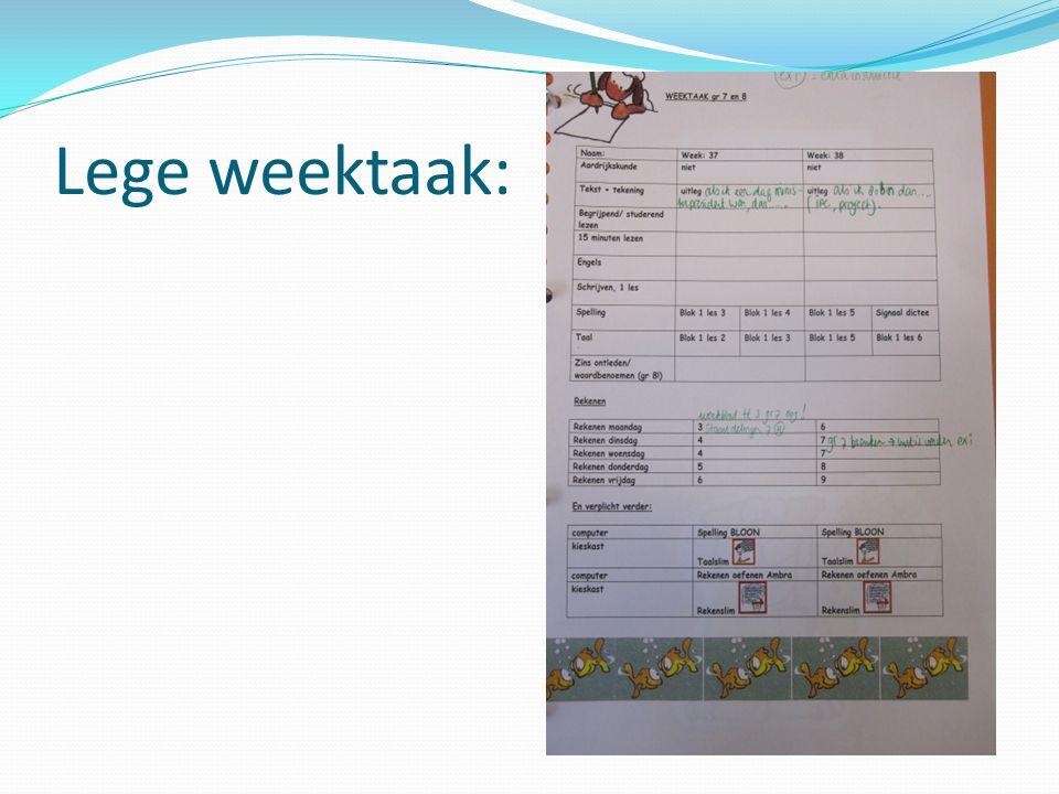 Weektaak: