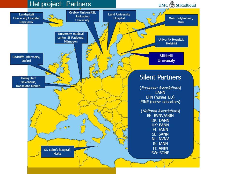 EU: 15,500,000+ neuro-patienten, 125,000-1,500,000 verpleegkundigen Afhankelijk van hoe je neuroverpleegkundige definieert Met/zonder diploma Geregistreeerd of niet Zeer groot opleidingsvraagstuk, grote opleidingsbehoefte Vergrijzing.
