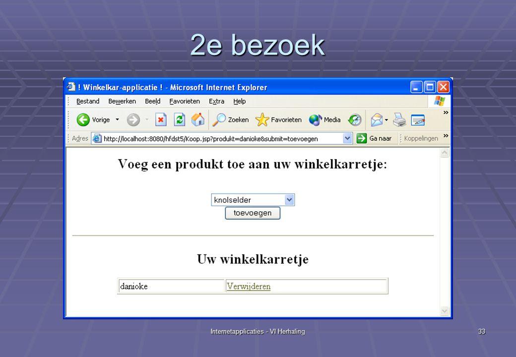 Internetapplicaties - VI Herhaling33 2e bezoek