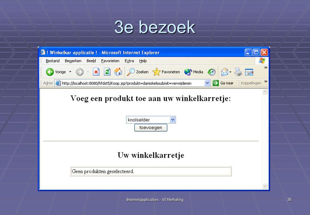 Internetapplicaties - VI Herhaling36 3e bezoek