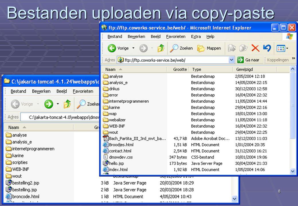 Deel XX Hosting8 Bestanden uploaden via copy-paste