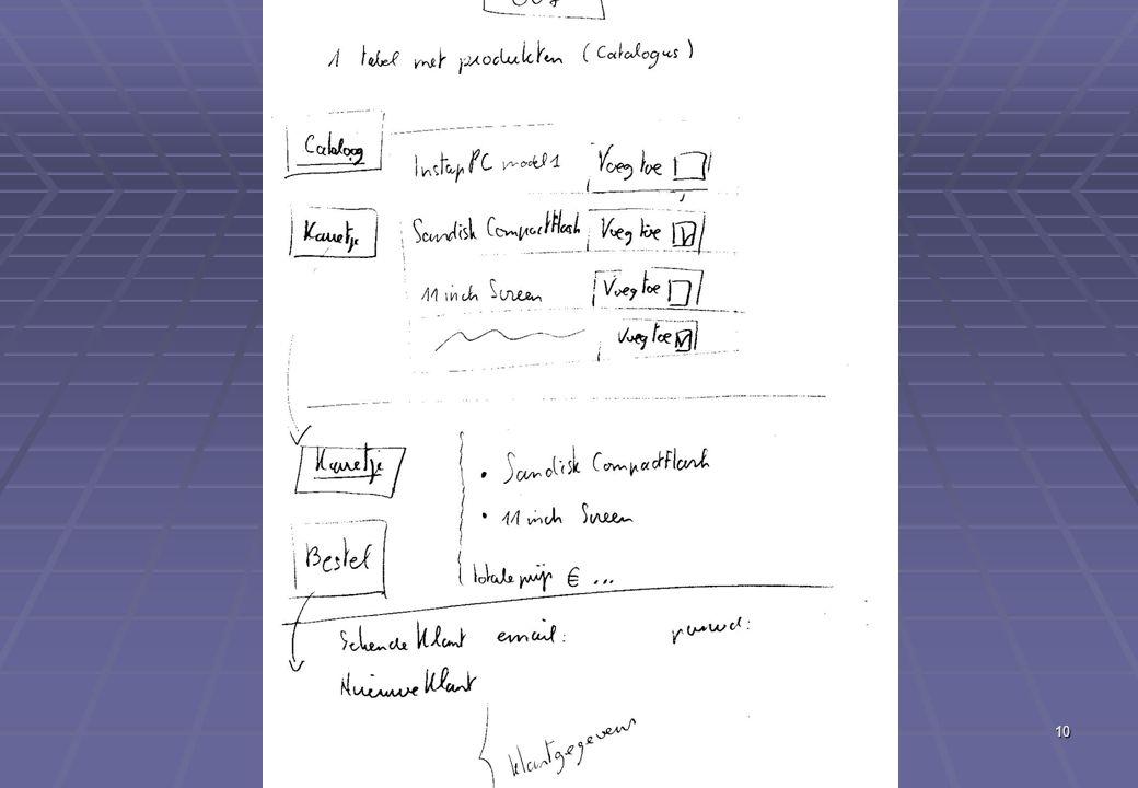 Deel XII Eerste echte e-commerce applicatie (vervolg) 10 GUI-schets