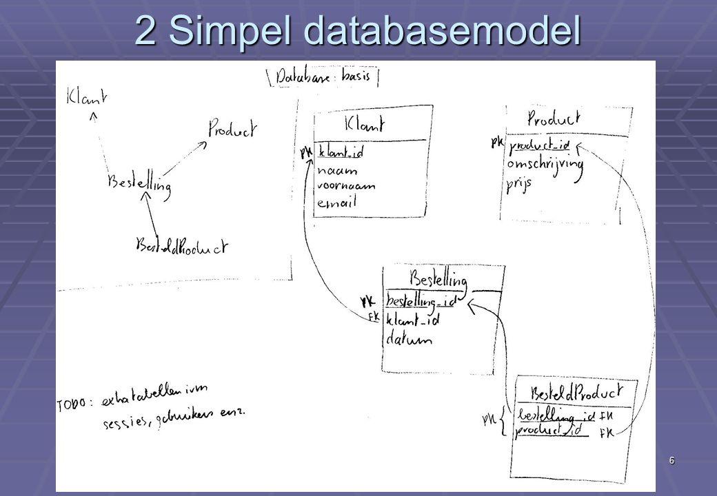 Deel XII Eerste echte e-commerce applicatie (vervolg) 6 2 Simpel databasemodel