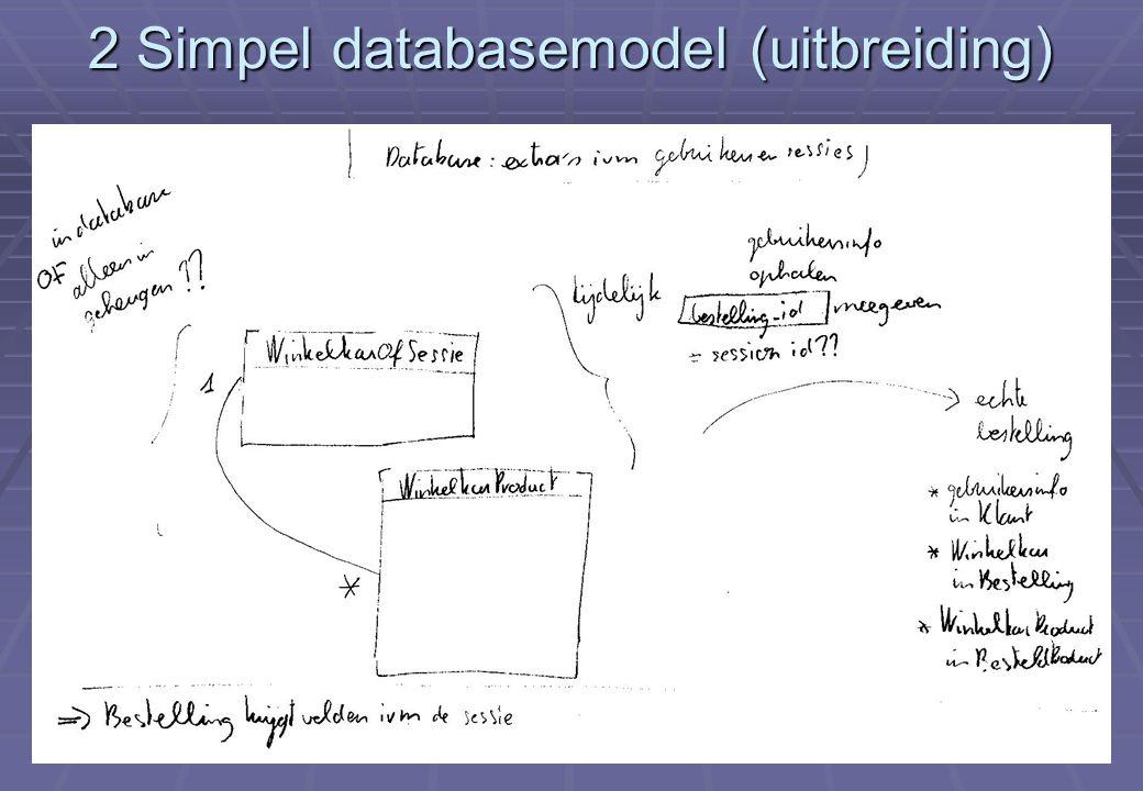 Deel XII Eerste echte e-commerce applicatie (vervolg) 8 2 Simpel databasemodel (uitbreiding)
