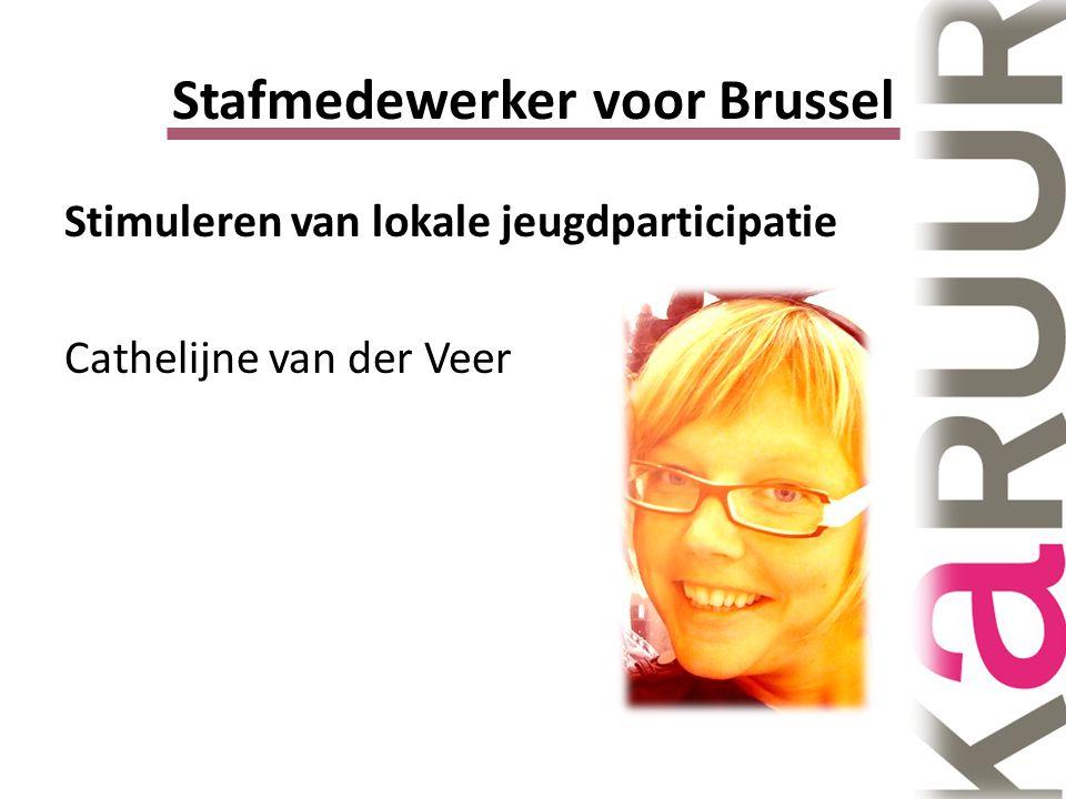 Stafmedewerker voor Brussel Stimuleren van lokale jeugdparticipatie Cathelijne van der Veer