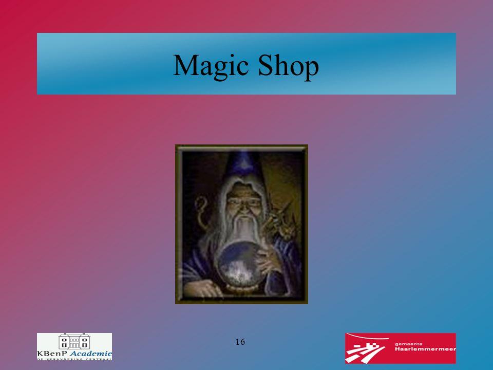 16 Magic Shop