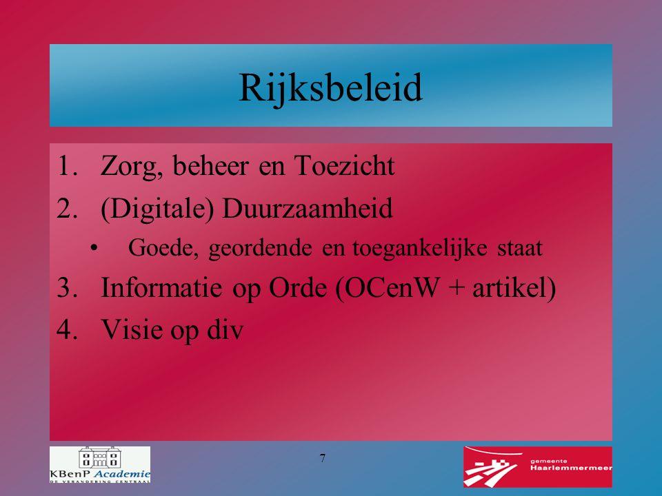8 Compliance Voldoet Haarlemmermeer aan vigerende wet- en regelgeving.