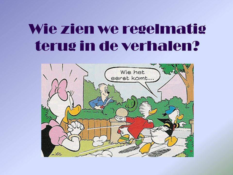 Donald Duck Grote mond, klein hartje Woont in Duckstad met zijn neefjes Heeft nooit geld genoeg Heeft nog wel eens ruzie met zijn buurman Heeft een oogje op Katrien Donald Duck bedacht is door de Amerikaan Walt Disney in de jaren 30.