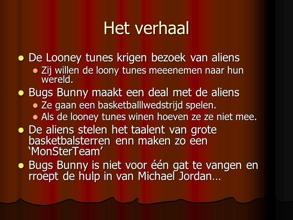 Het verhaal De Looney tunes krigen bezoek van aliens De Looney tunes krigen bezoek van aliens Zij willen de loony tunes meeenemen naar hun wereld. Zij