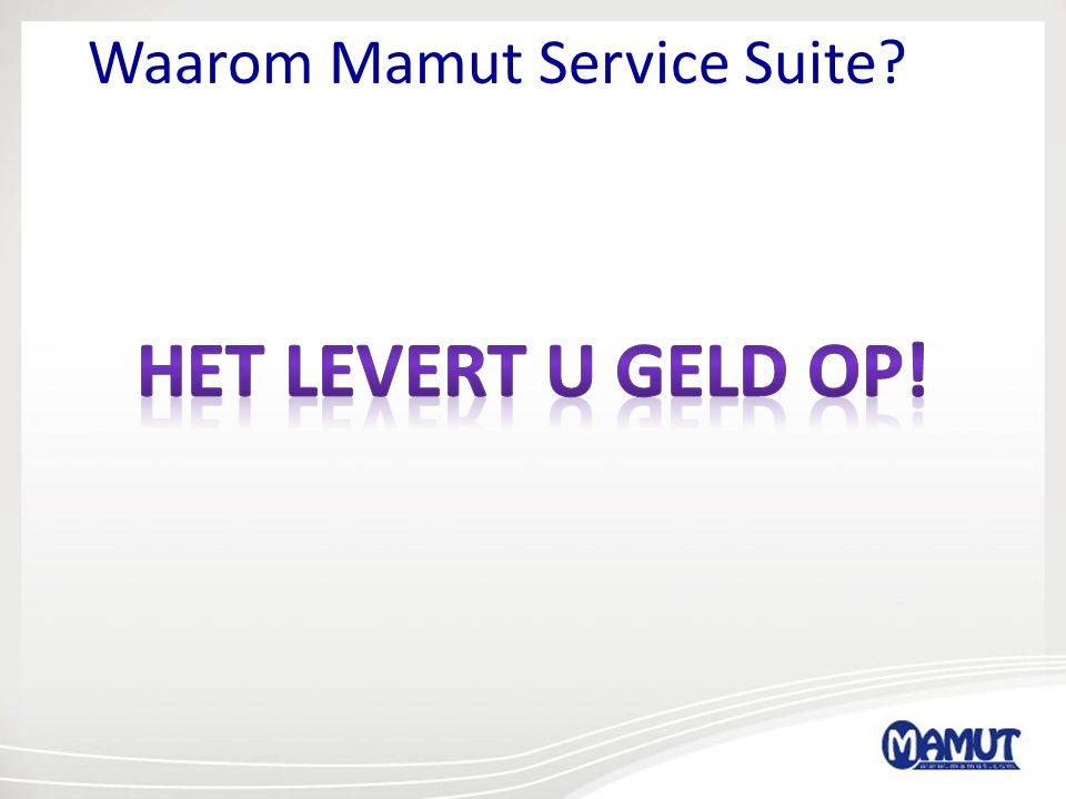 Waarom Mamut Service Suite?