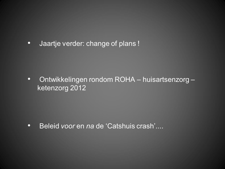 Jaartje verder: change of plans .