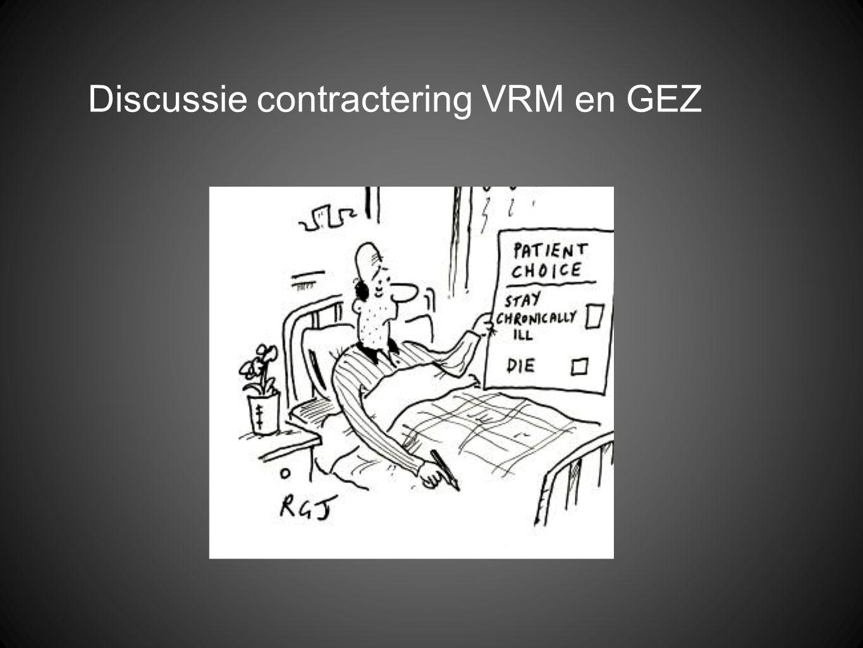 Discussie contractering VRM en GEZ