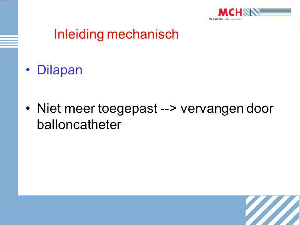Inleiding prostaglandines NVOG richtlijn Geen informed consent nodig voor misoprostol Ernstige leverfunctiestoornissen = relatieve contra-indicatie voor miso