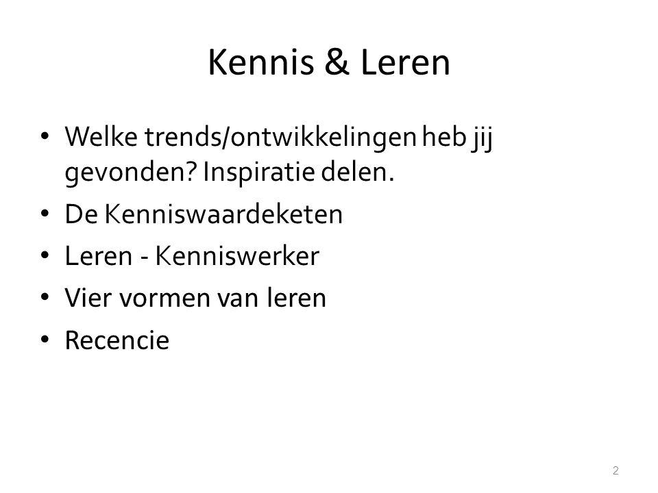 Kennis & Leren Welke trends/ontwikkelingen heb jij gevonden.
